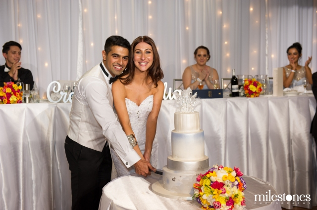 Cake cutting with cake topper