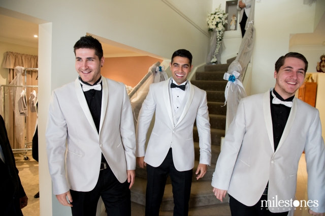 Groom with brother in law groomsmen