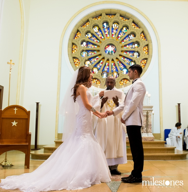 Getting married at the alter Oakhill Chapel